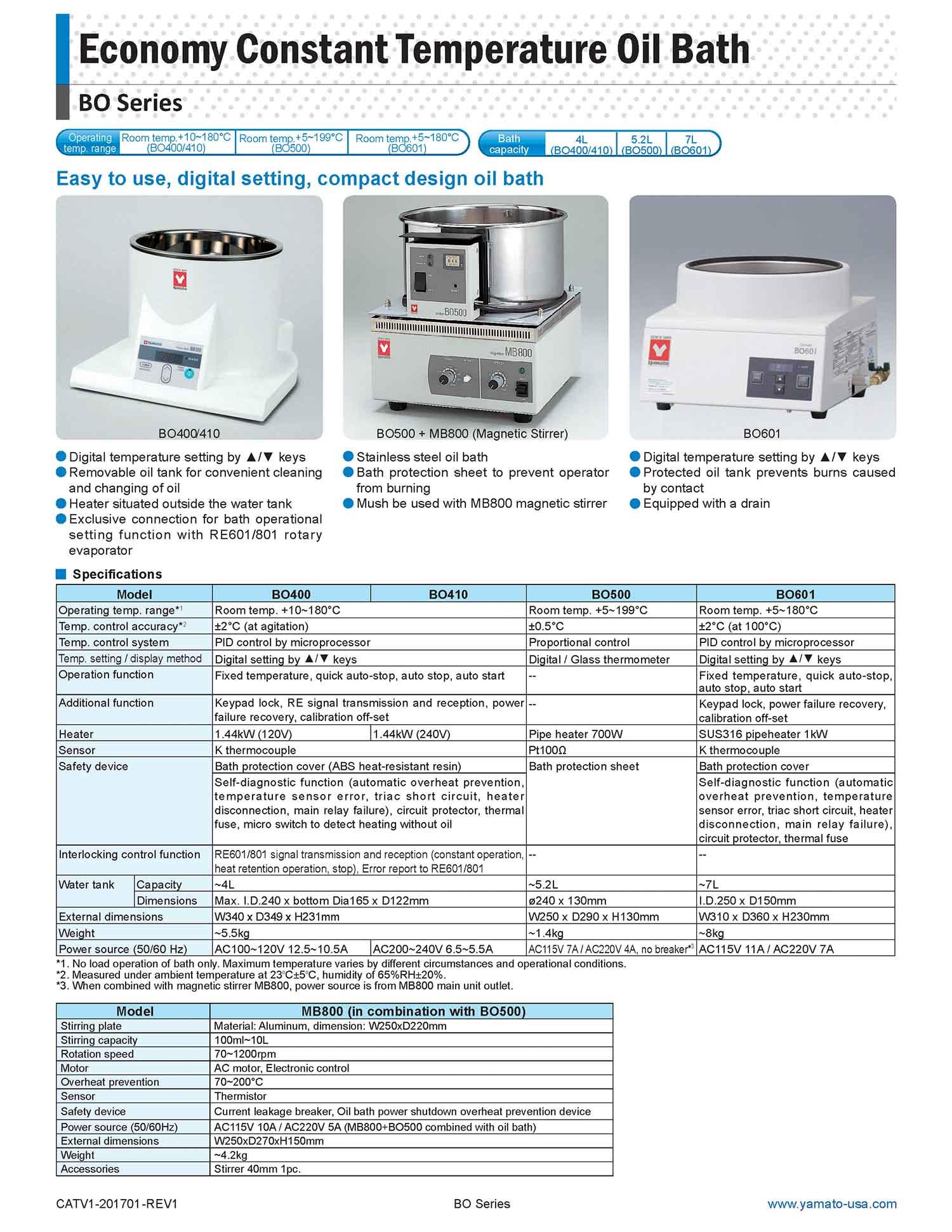 Compact Constant Temperature Oil Bath | Yamato Scientific